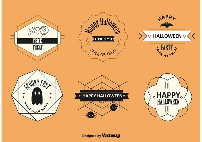 Halloween Labels and Badges