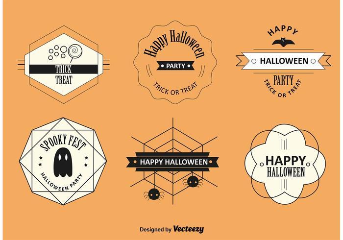 Étiquettes et badges d'Halloween