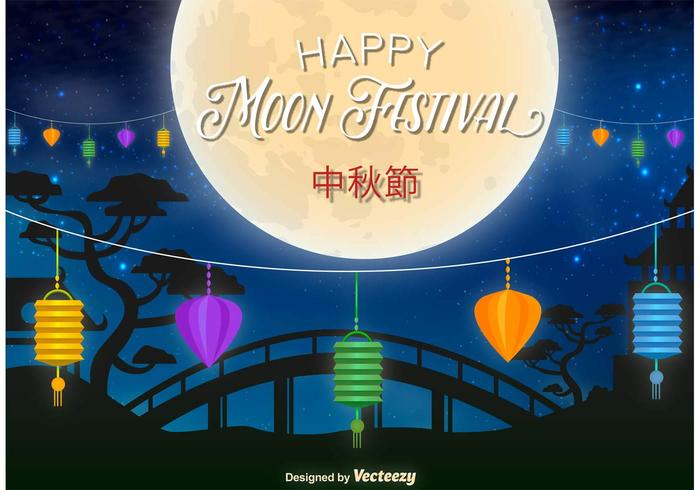Happy Moon Festival Illustration