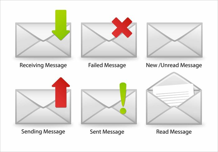 Vectores del icono de SMS