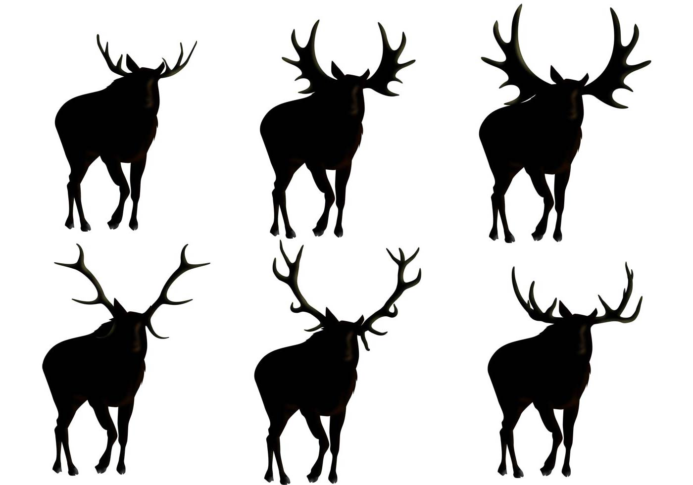 moose silhouettes moose silhouette vectors download free vector art stock 7739