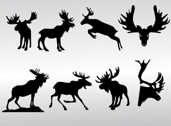 Moose Silhouette Vectoren