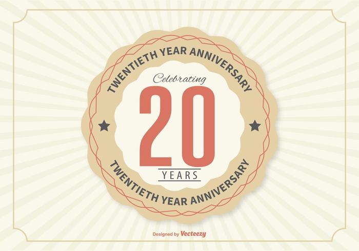 Zwanzigste Jahr Jubiläums-Illustration