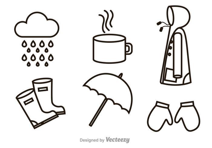 Ícones de tópicos chuvosos