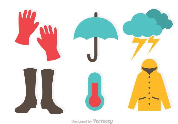Rainy Flat Icons