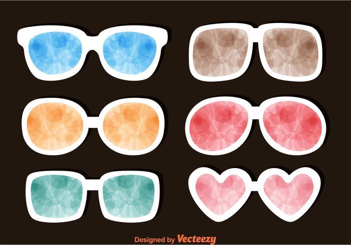 Sonnenbrillen mit bunten Reflexionen vektor