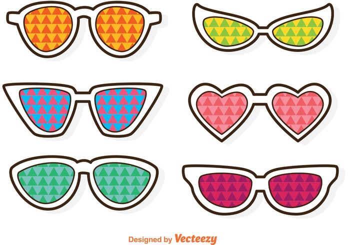 Sunglasses With Colorful Triangles Vector