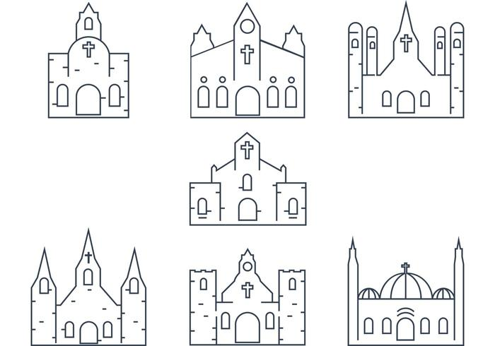 Vector Church Outline