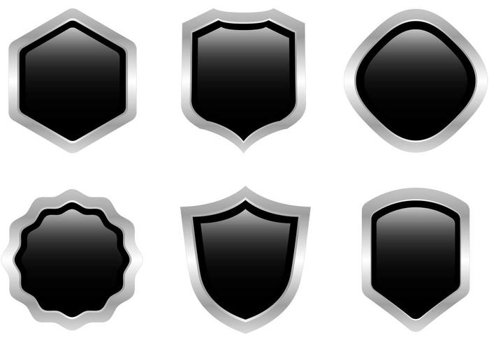 Free Black Steel Shield Vector