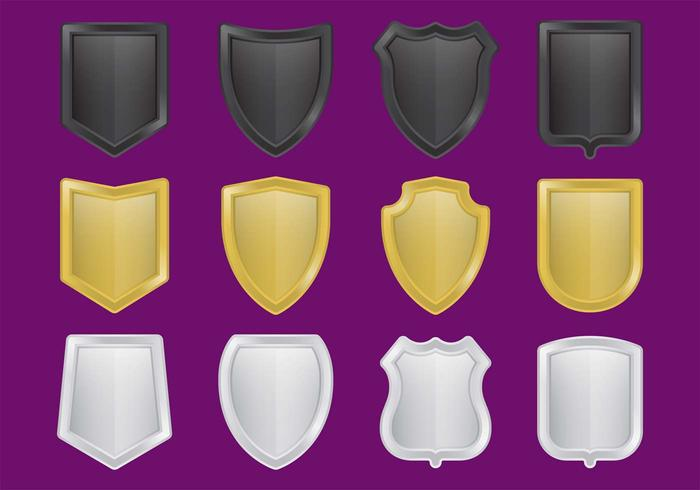 Metal Shield Vectors