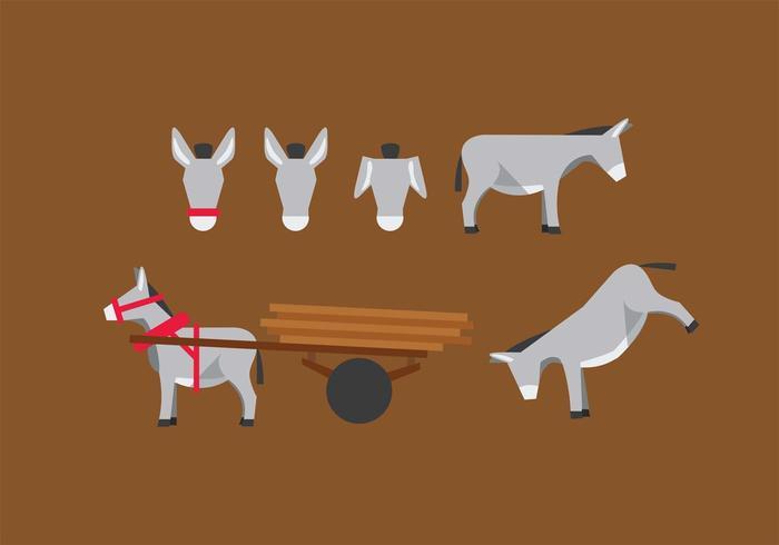 Donkey Vector Set