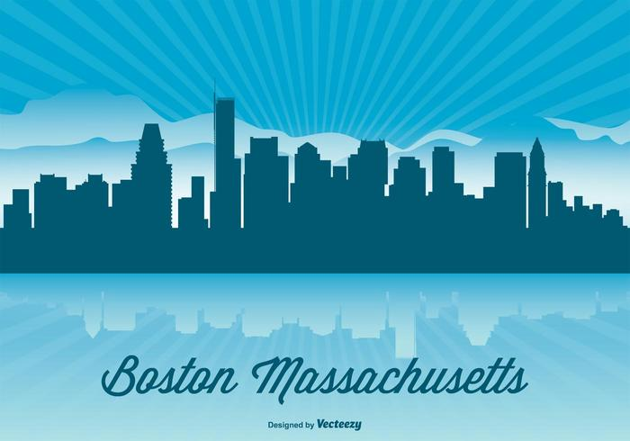 Boston Skyline Illustration