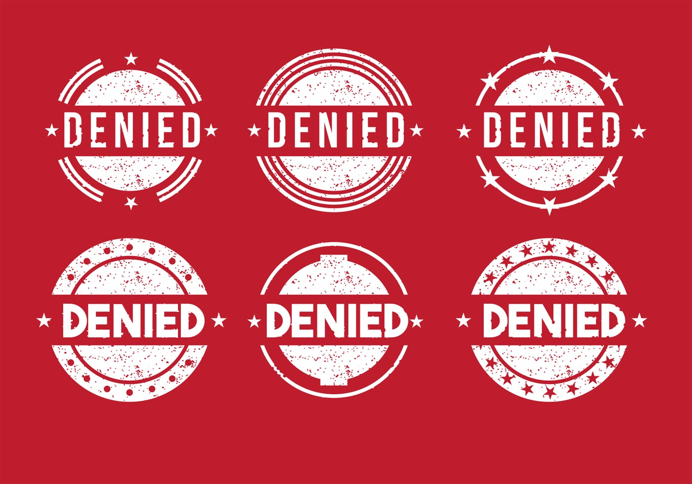 Denied Stamp Vectors Download Free Vector Art Stock
