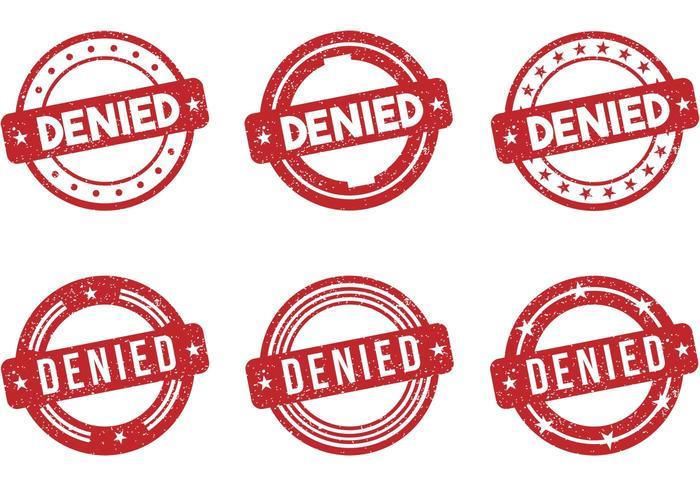 Denied Stamp Vectors