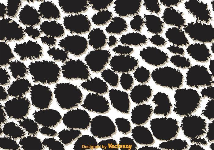 Giraffe Print Black And White Pattern