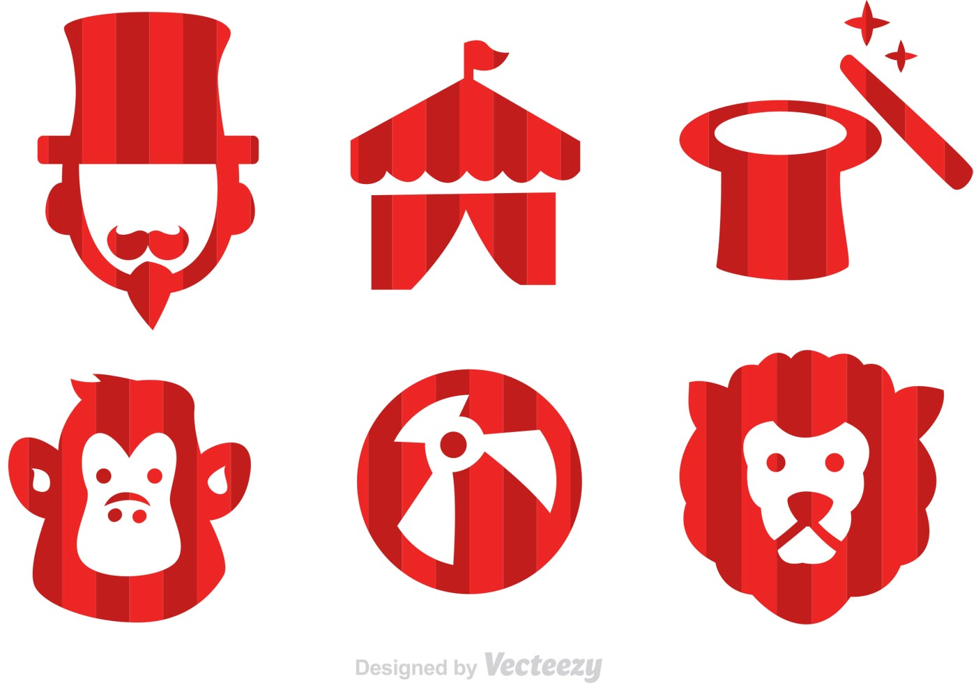 Vector Circus Icons - Download Free Vector Art, Stock Graphics ...