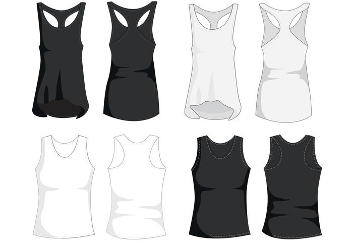 Tank Top Template Vectors Download Free Vector Art Stock Graphics