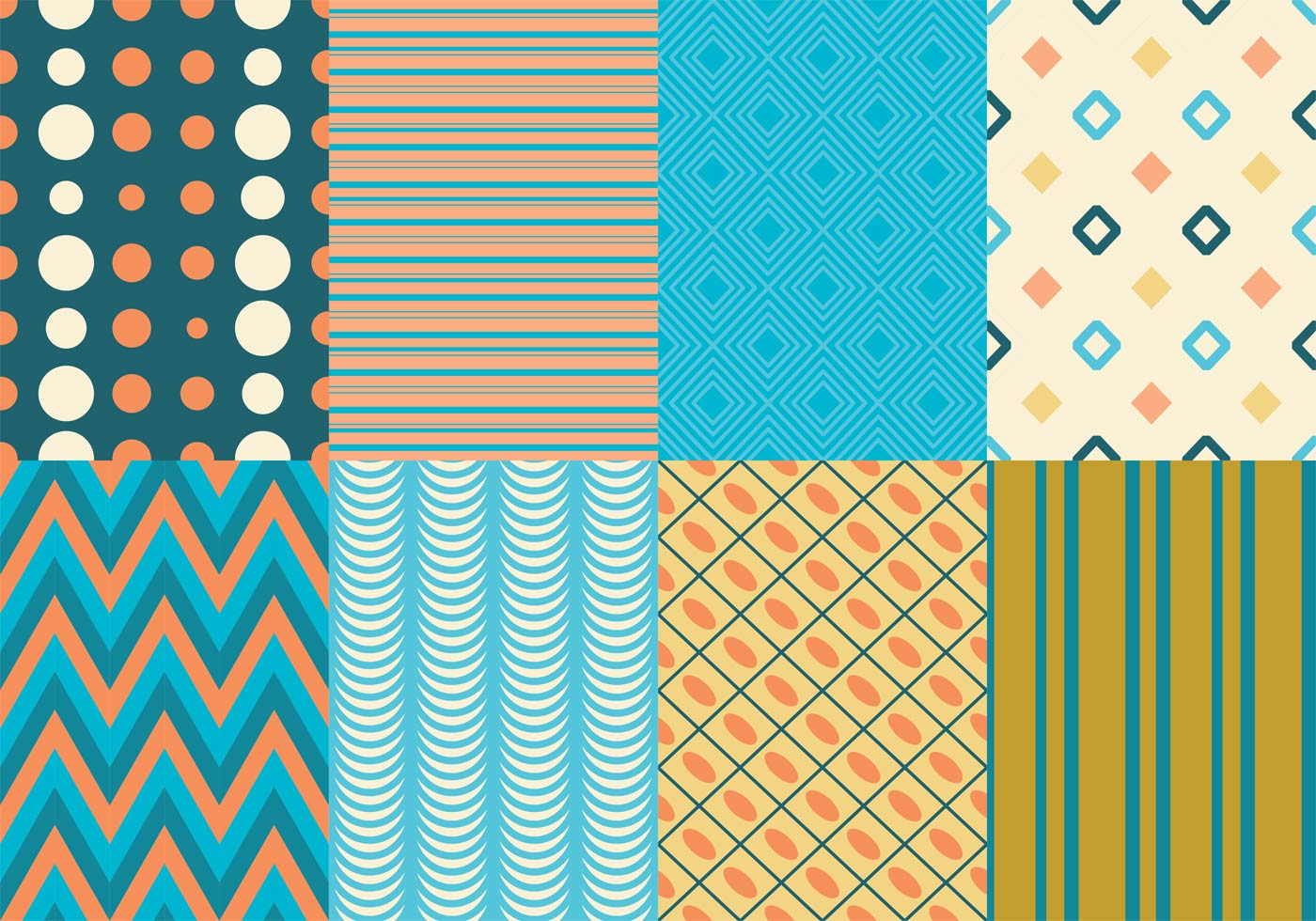 Retro Texture & Pattern Pack - Download Free Vector Art ... Vintage Shape Template