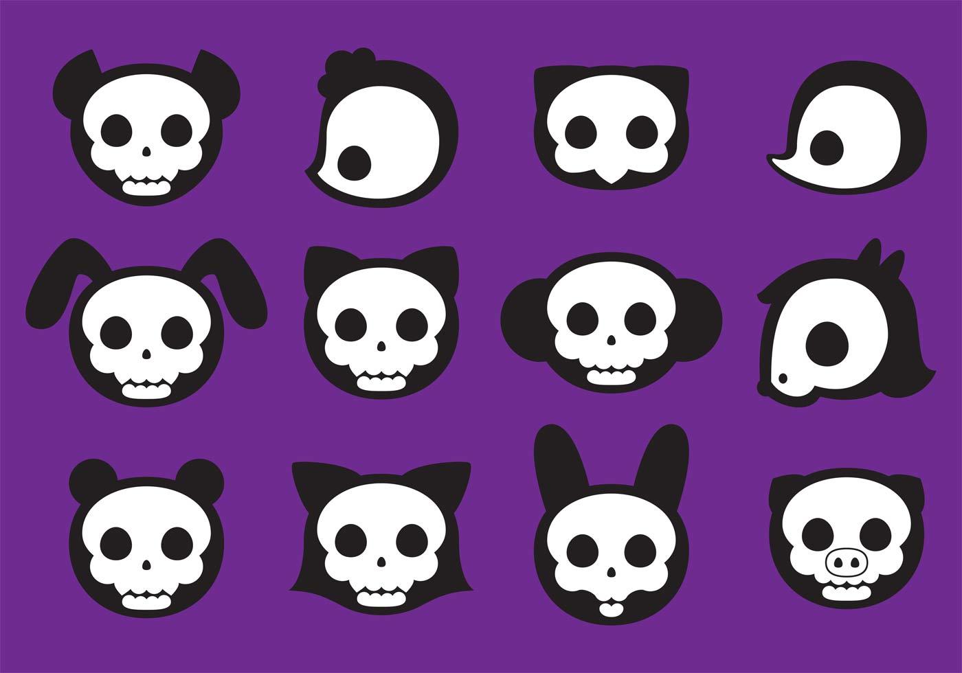 Cute Animal Skull Vectors Download Free Vectors Clipart