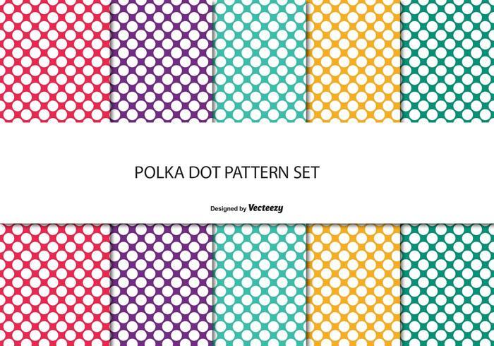 Färgglatt Polka Dot Mönster Set