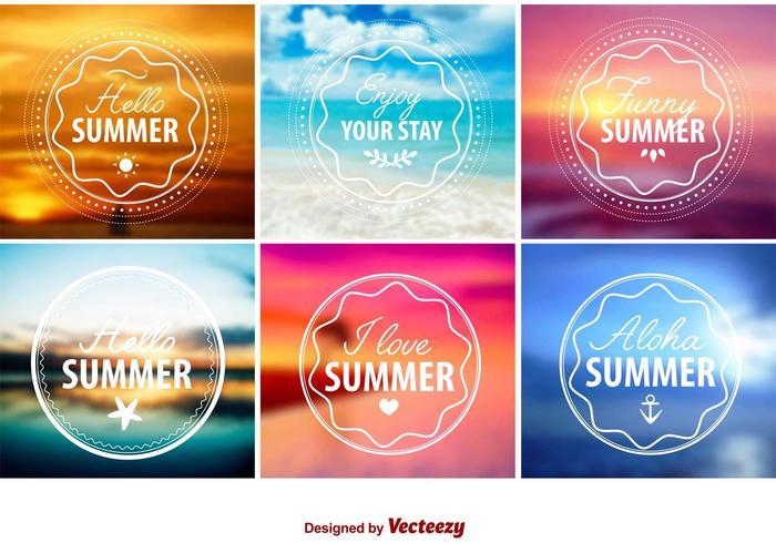 Hello Summer Emblems