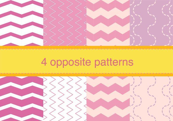 Zig Zag Opposite Patterns vector