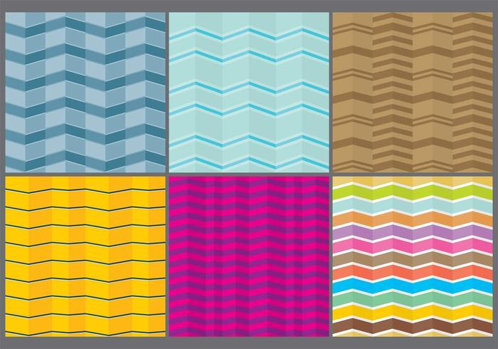 Colorful Chevron Patterns vector