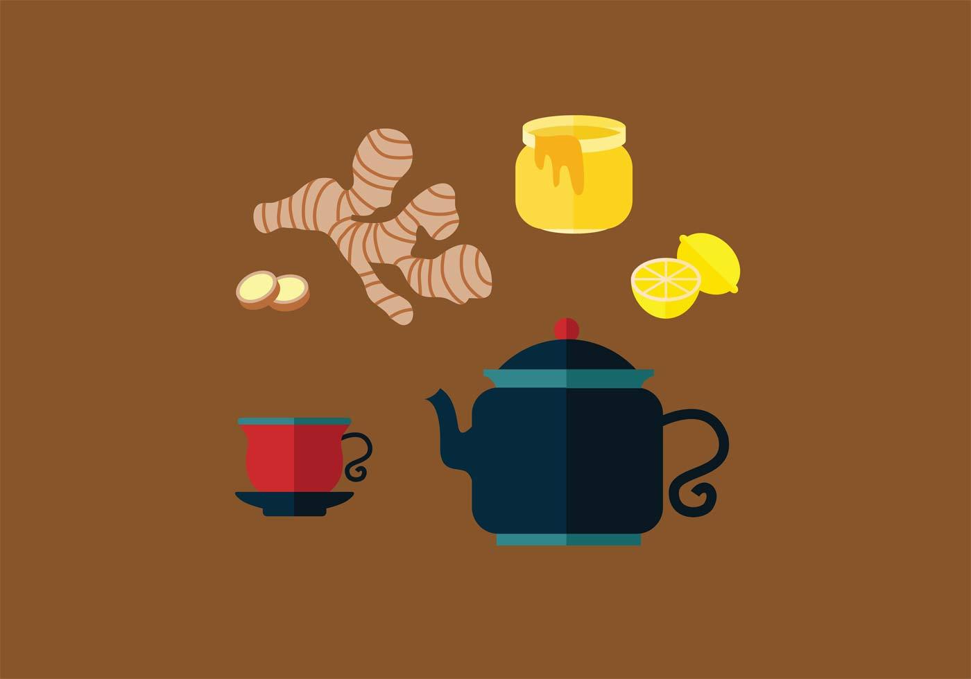 Ginger Tea Vector Set Download Free Vector Art Stock