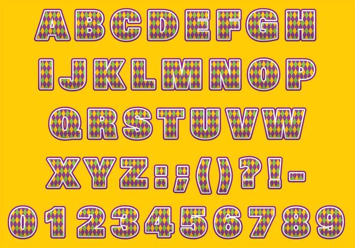 Mardi Gras Font Type - Download Free Vectors, Clipart