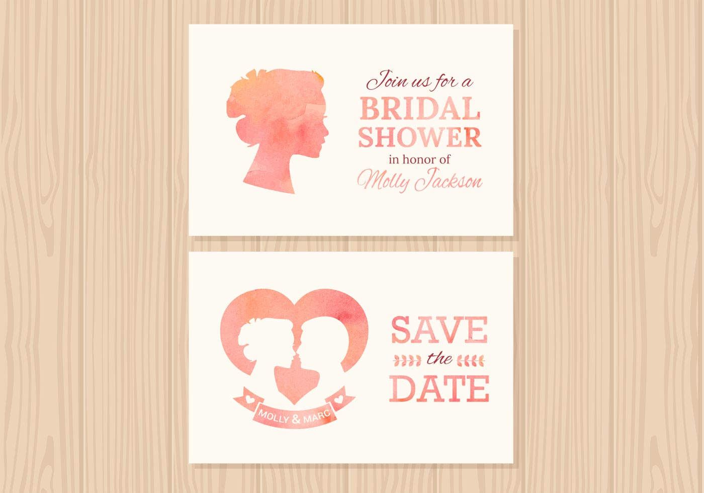 Wedding Invitation Vector Cards - Download Free Vector Art, Stock ...