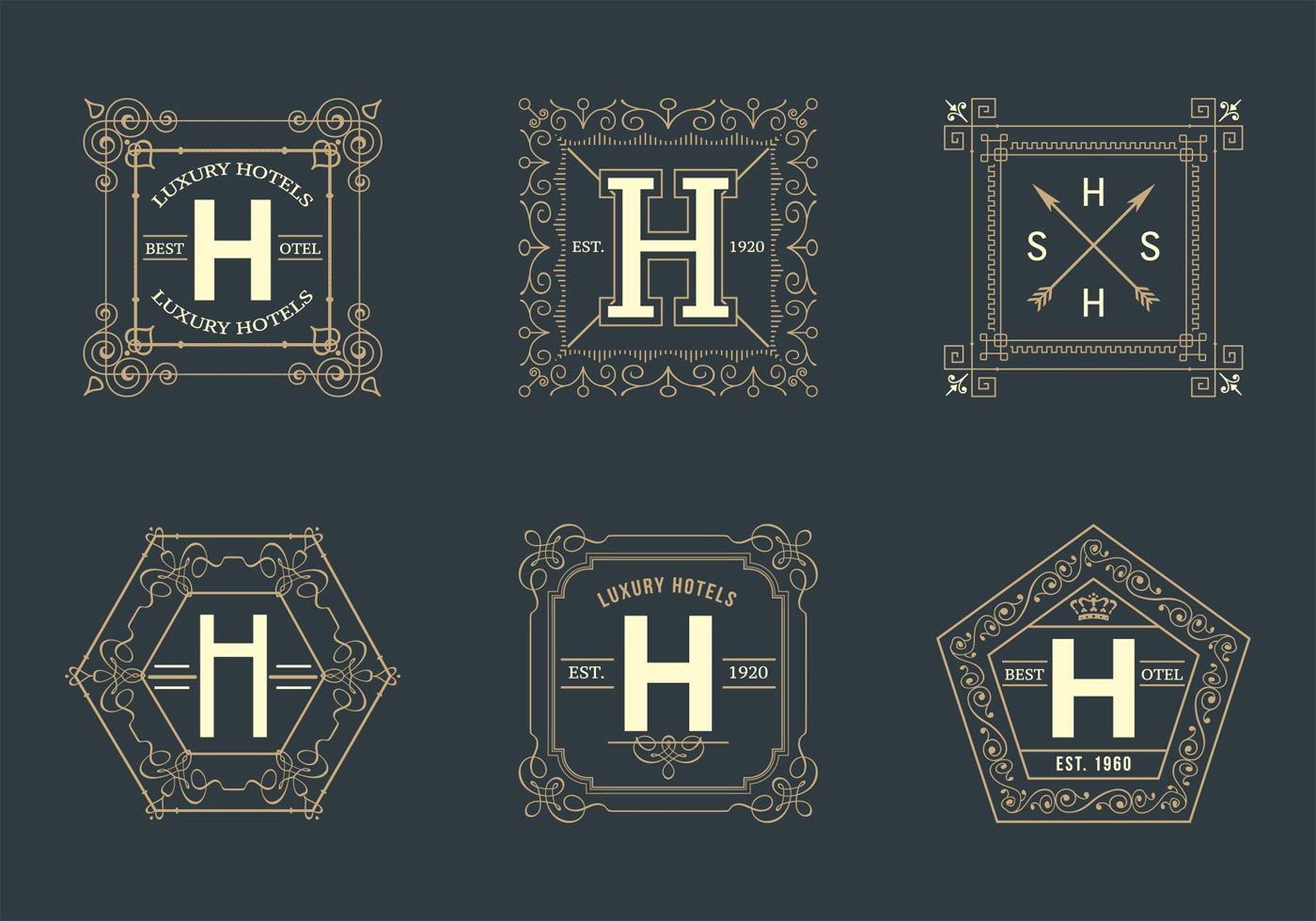 free-retro-square-hotel-logos-vector Free Royal Letter Template on royal old english font, british mail box templates, royal wedding invitation, printable alphabet letters templates,