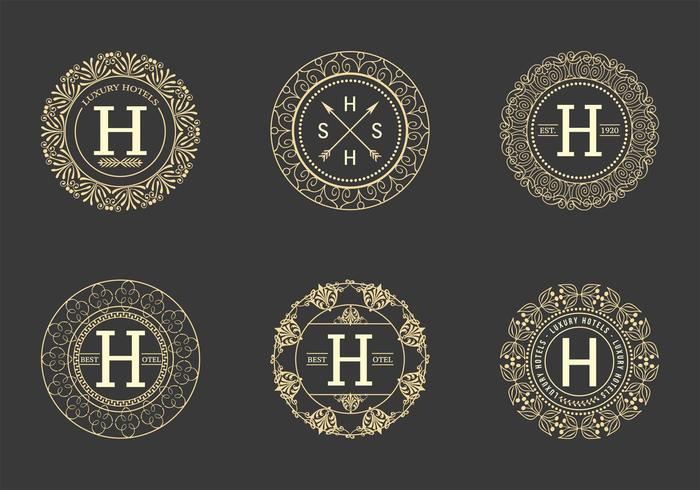 Free Retro Hotel Logos Vector - Download Free Vector Art, Stock ...