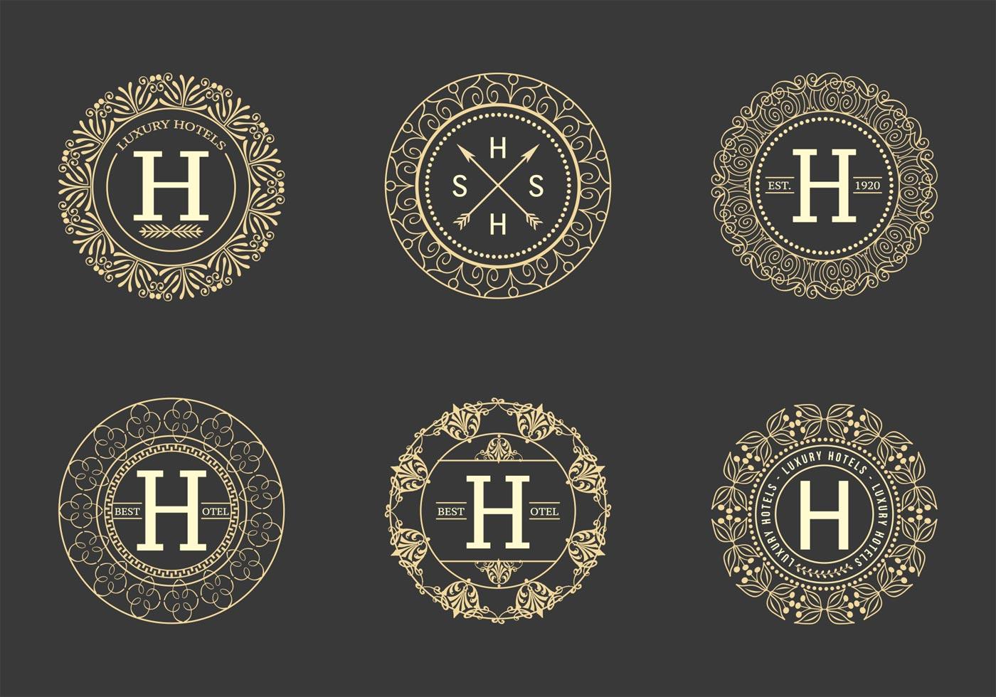 Free Retro Hotel Logos Vector