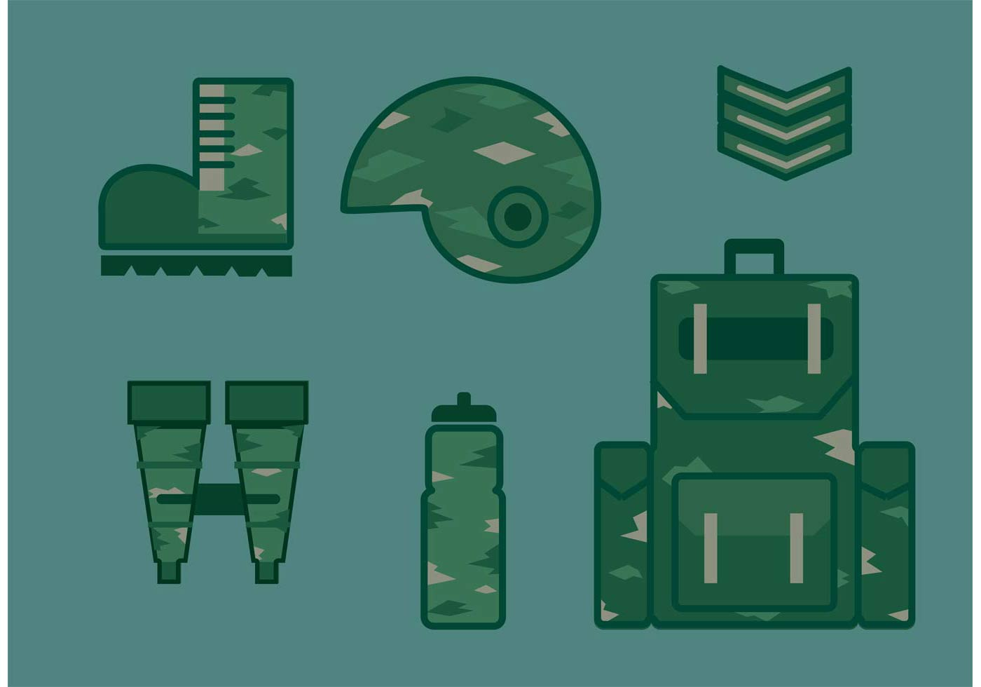 Military Vector Icon Set - Download Free Vectors, Clipart ...