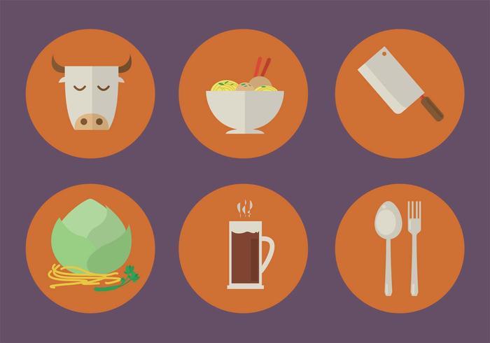 Icone del ristorante vettoriale