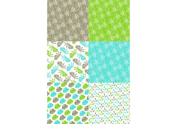 Green Nature Pattern set