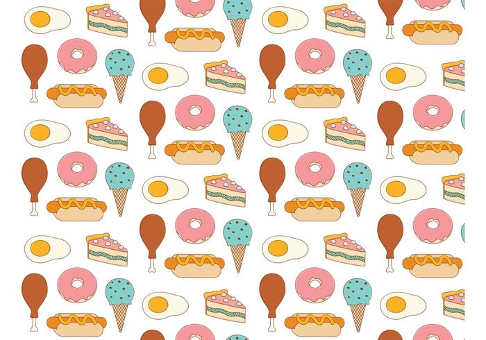 Food Background food background pattern - download free vector art, stock graphics