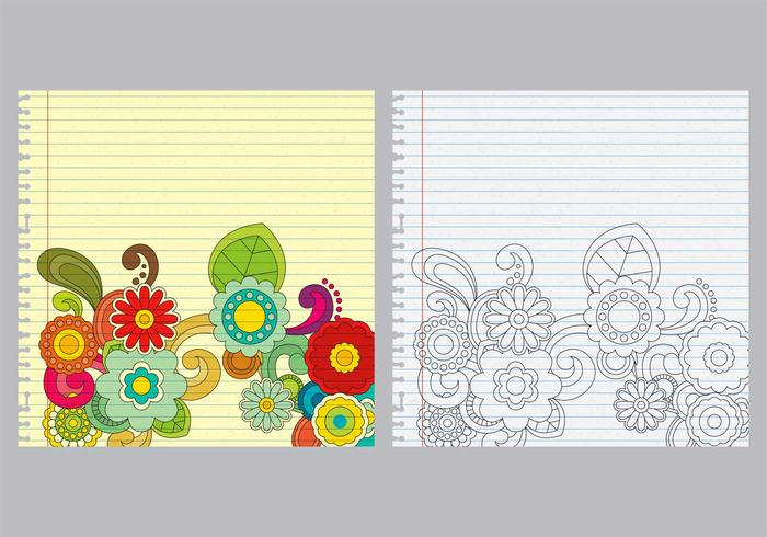 Paisley Notebook Vectores