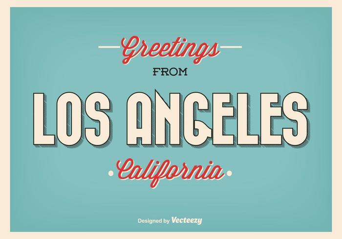 Ilustração de saudação retro de Los Angeles