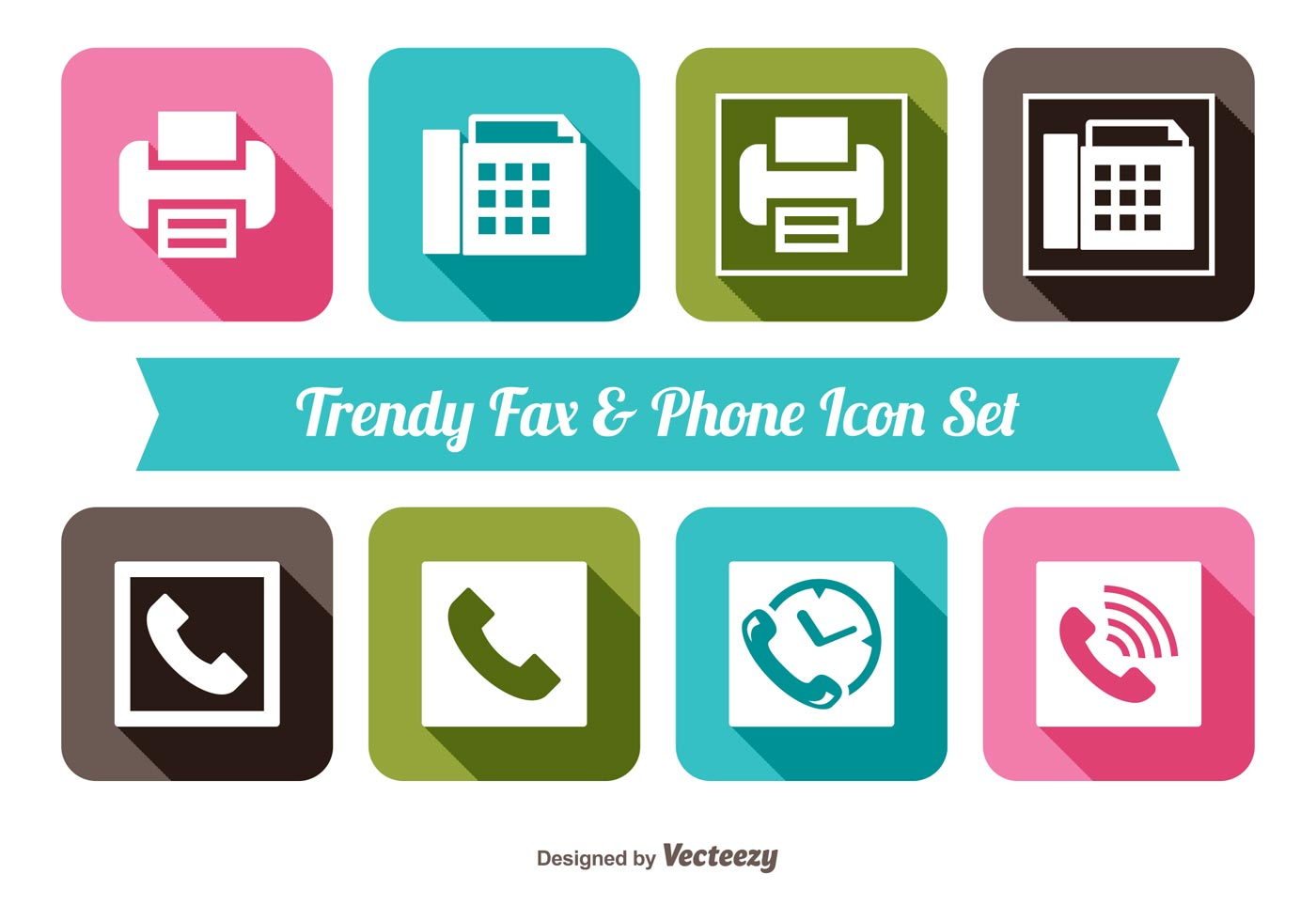 fax and phone icon set download free vector art stock graphics