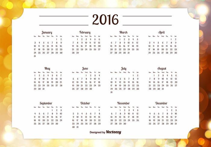 Ilustração Calendário 2016