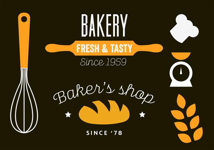 Vector Illustration of a Bakery Shop Template Design