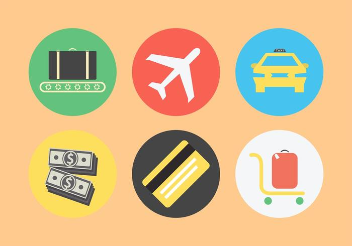 Airport Related Icon Set