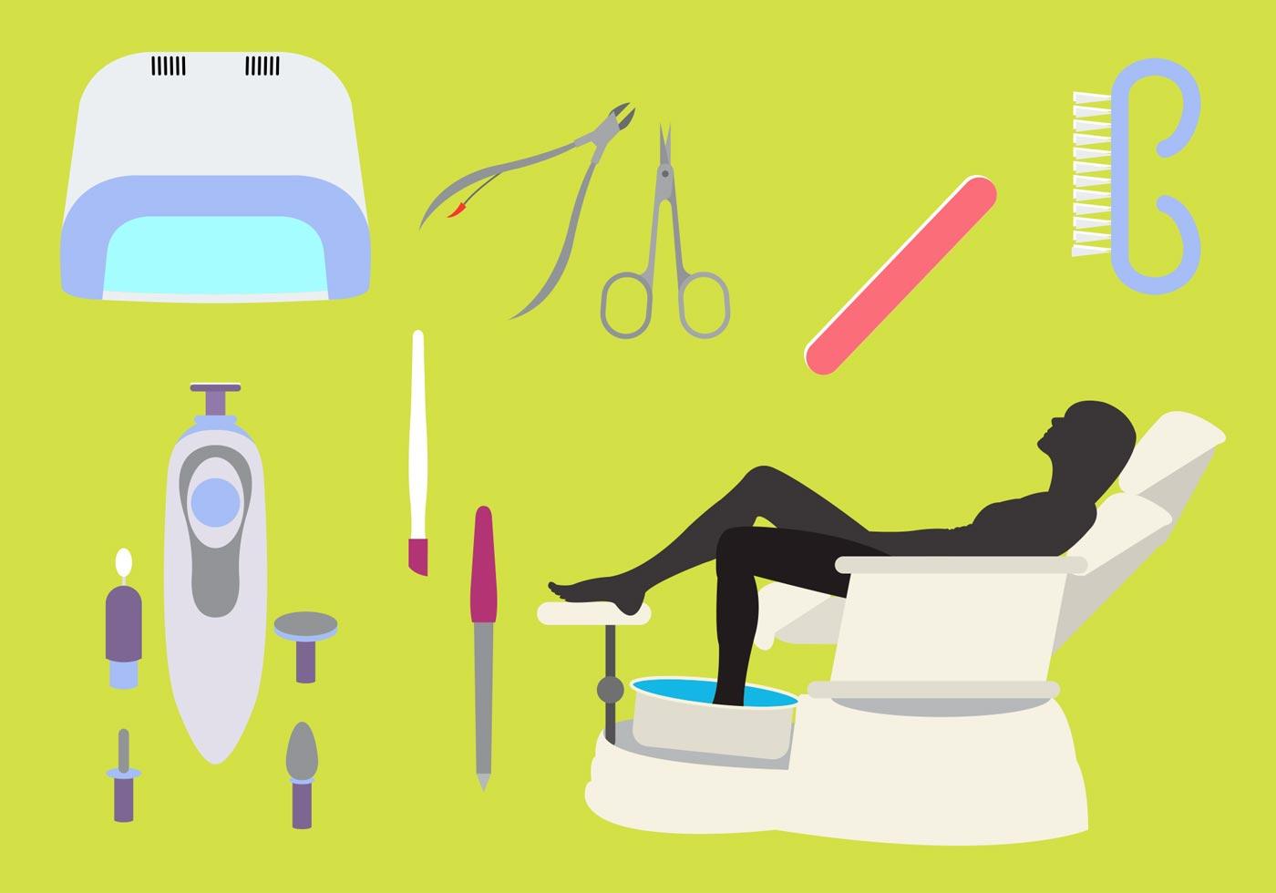 Vector Manicure Pedicure icons