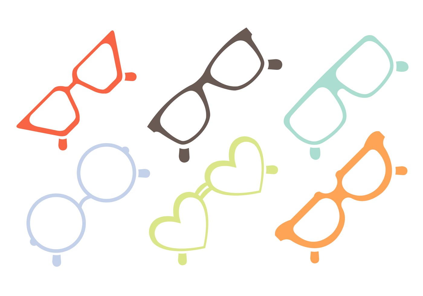 377a9a3087f Heart Shaped Sunglasses Free Vector Art - (16364 Free Downloads)
