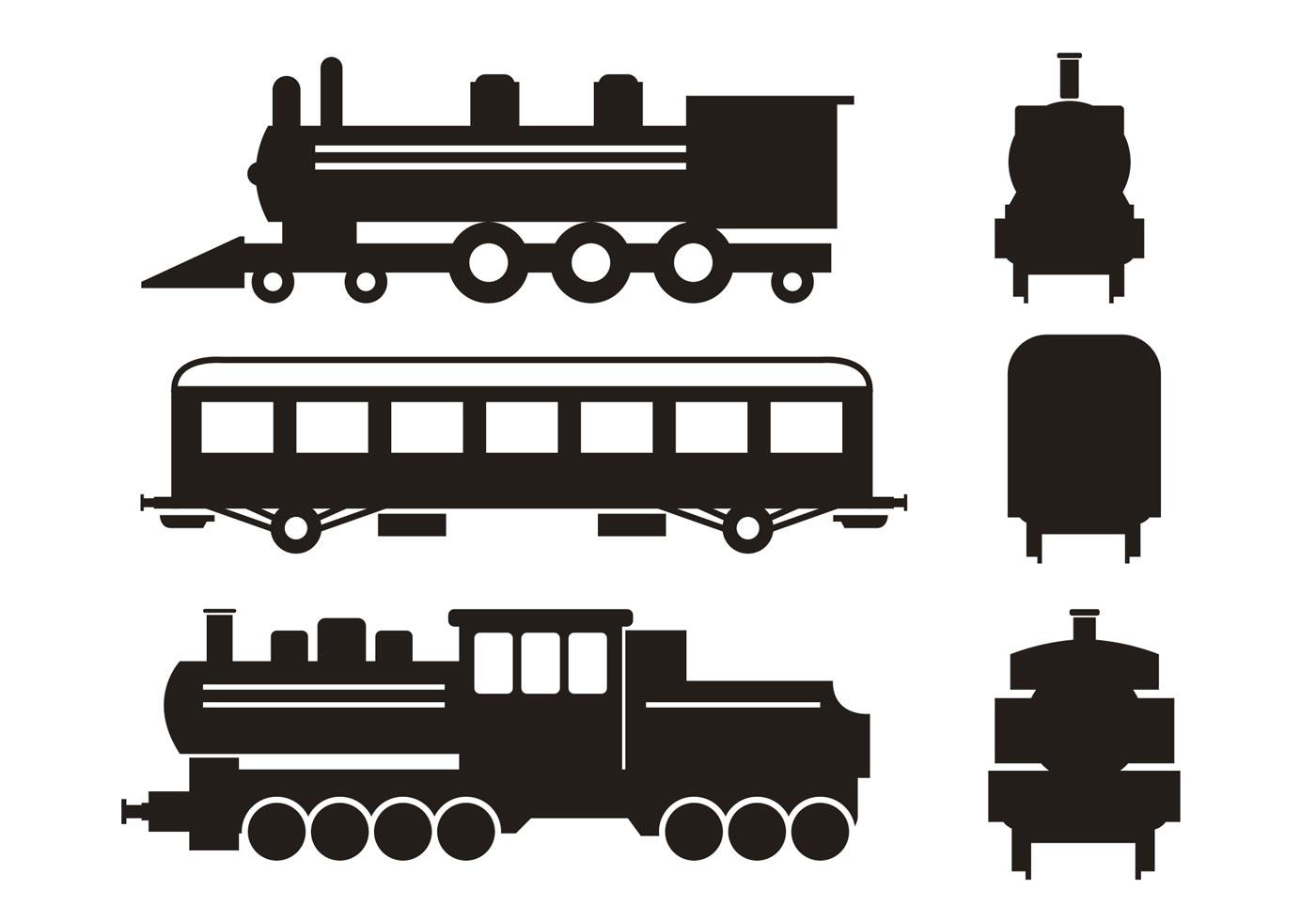 Train Silhouette Vector Set - Download Free Vector Art ...