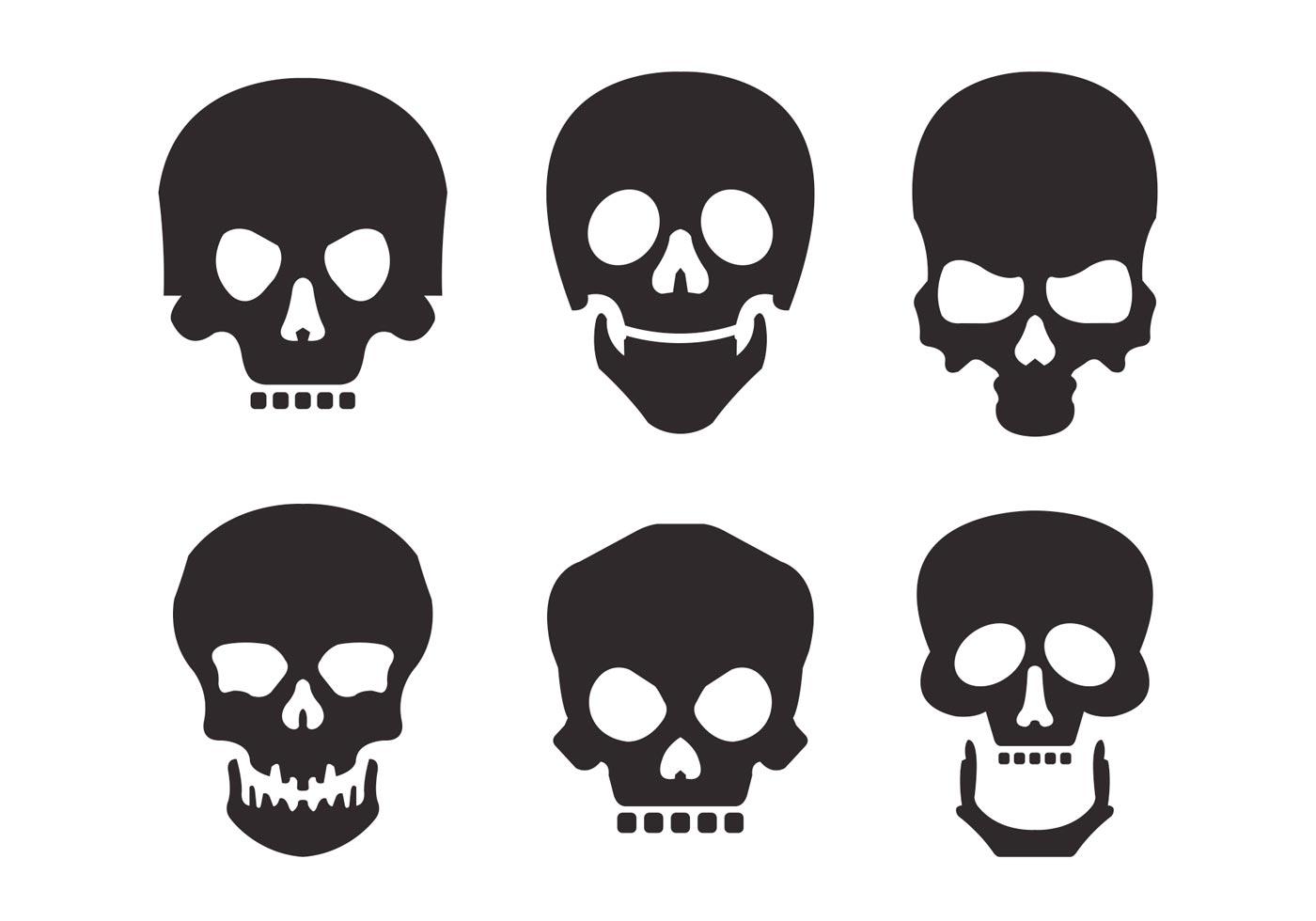 skull silhouette vector set download free vector art deer skull vector art free Deer Head Vector
