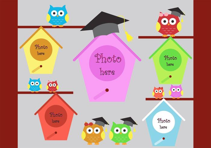 Colorful Graduation Background with Place for Photos in Vector Format