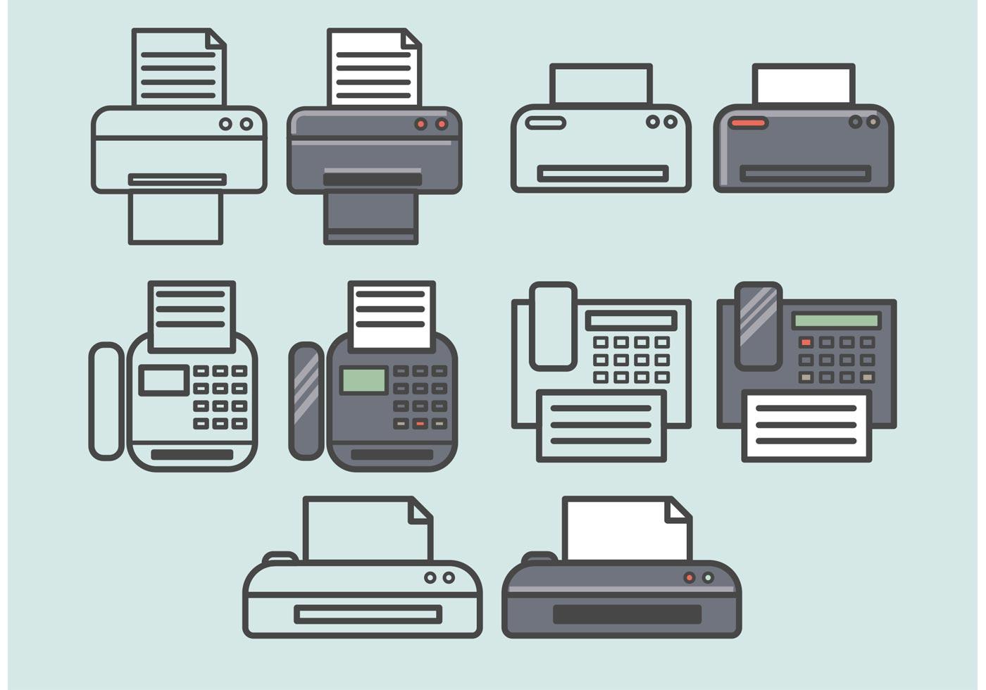 vector fax icons set download free vectors clipart graphics vector art https www vecteezy com vector art 92951 vector fax icons set