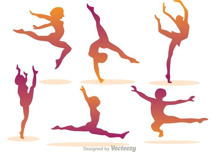 Girl Gymnastic Vectors